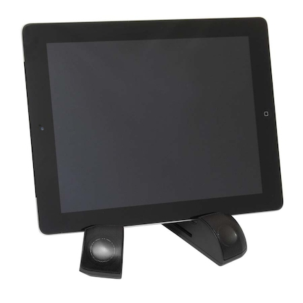Tablet Stand With Speakers  large