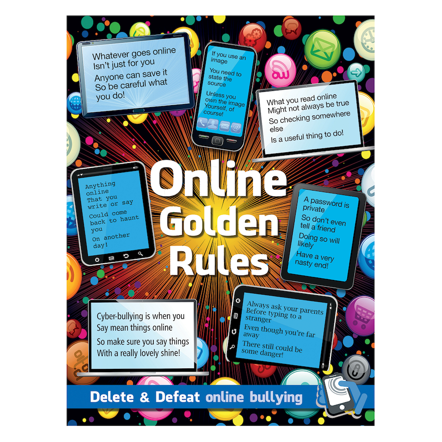 buy online safety golden rules sign and poster tts. Black Bedroom Furniture Sets. Home Design Ideas