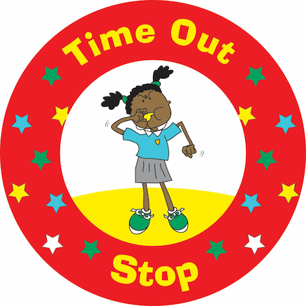 Time Out Stop Playground Sign 45cm  large