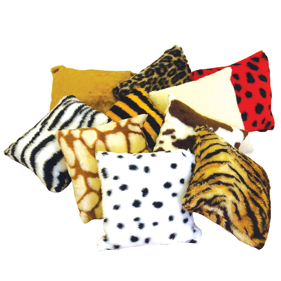 Buy Assorted Soft Animal Print Pillow Cushions 10pk TTS
