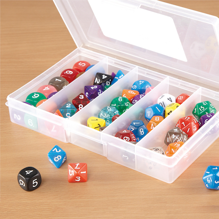 Coloured Mixed Dice Deluxe Set 54pcs  large