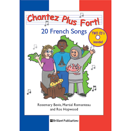 Chantez Plus Fort! French singing Book and CD  large