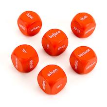 KS1 Conjunctions Dice  medium