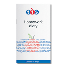 TTS Homework Diaries 10pk  medium