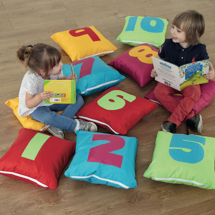 1-10 Number Cushions  large