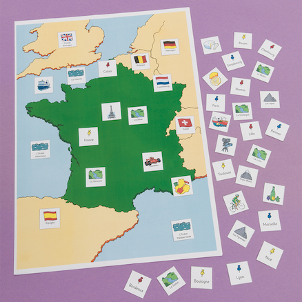 Map of France Magnetic Chart  large