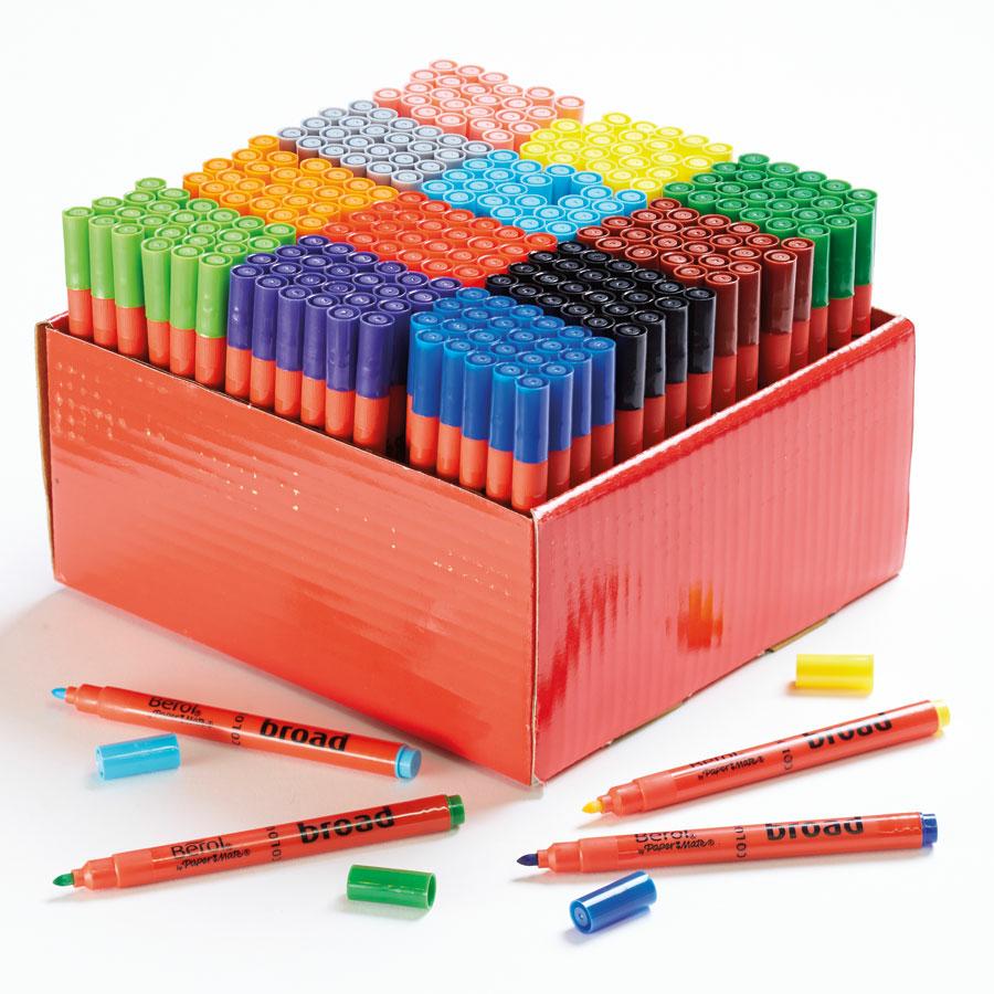 buy berol colour broad fibre tipped assorted pens tts. Black Bedroom Furniture Sets. Home Design Ideas