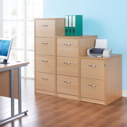 Office Wooden Filing Cabinets  large