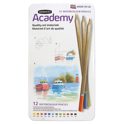 Derwent Academy Watercolour Pencils 12pk  large