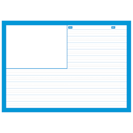 A4 Childrens Handwriting Sheet Pad with Pictures  large