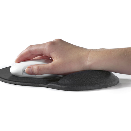 Black Gel Mouse Mat 230 x 260mm  large