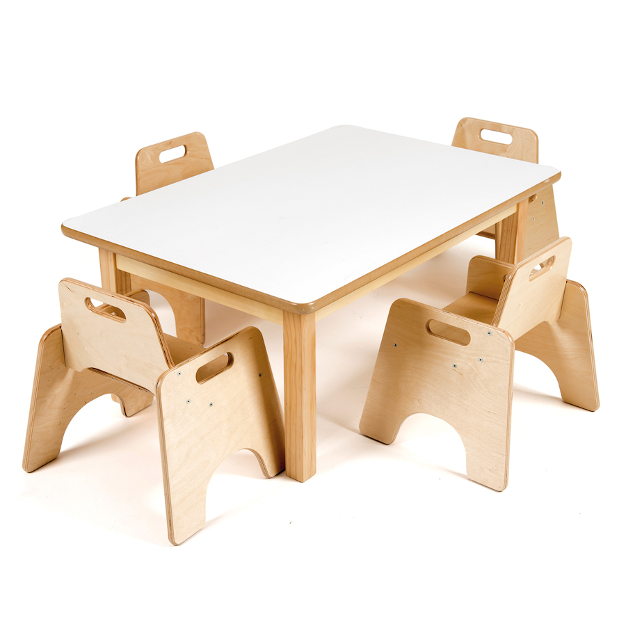 Buy rectangular toddler low table h380mm tts for Table and chairs