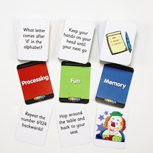 Working Memory Activity Game Cards  medium