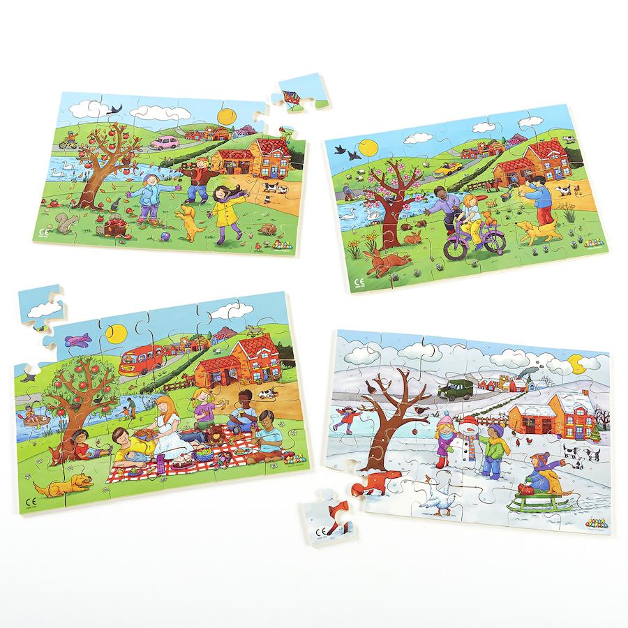 Buy Wooden Four Seasons Jigsaw Puzzles 4pk Tts