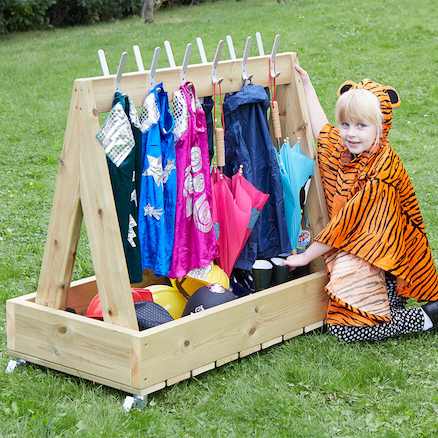 Outdoor Toddler Wooden Role Play Dress Up Trolley  large