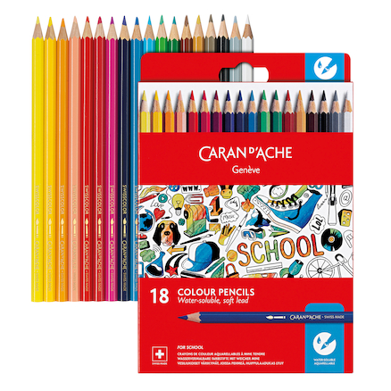 Caran Dache Water-Soluble Colouring Pencils   large