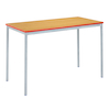 Fully Welded Tables Coloured Edge Rectangular  small