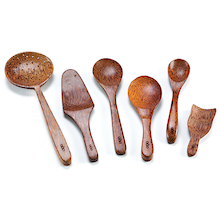 Assorted Wooden Messy Play Spoons 12pk  medium