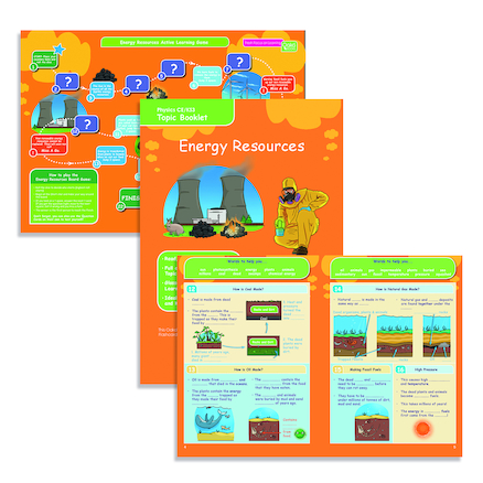 KS3 Physics Energy Resources Revision Cards 10pk  large