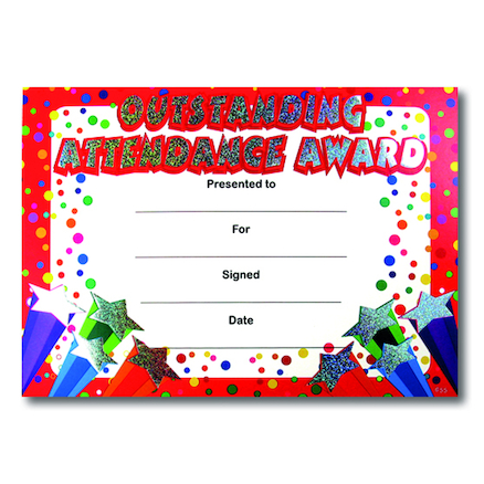 Sparkly Attendance Certificates 40pk  large