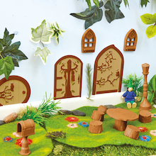 Woodland Fairy Door Collection Mini Doors 3pcs  medium