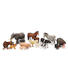 Small World Wild and Farm Animals and Young Set  small
