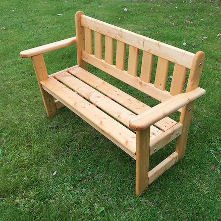 Outdoor Wooden Infant Height Bench  large