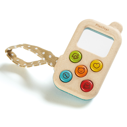 My First Wooden Toy Phone  large