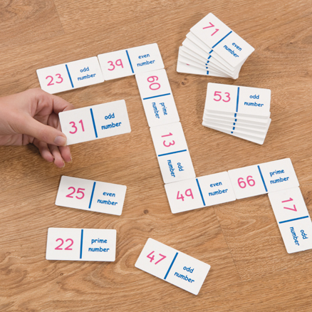 Odd Even Prime Number Dominoes Game  large
