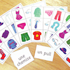 Clothes French Vocabulary Bingo Game  small