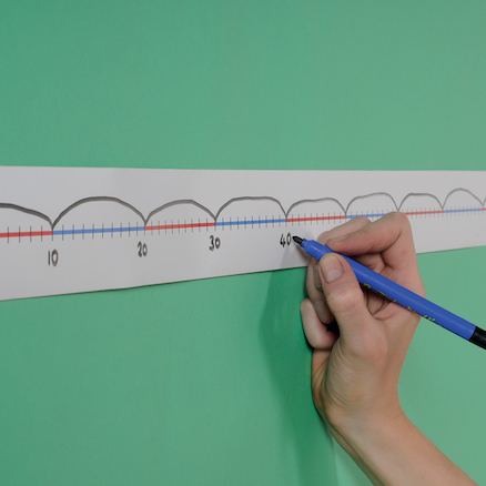 Blank Table Top Number Lines 0-100 5pk  large