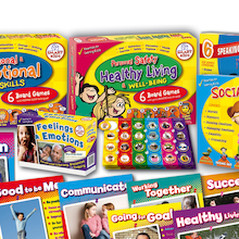 PSHE Board Games Poster and Sticker Set  medium