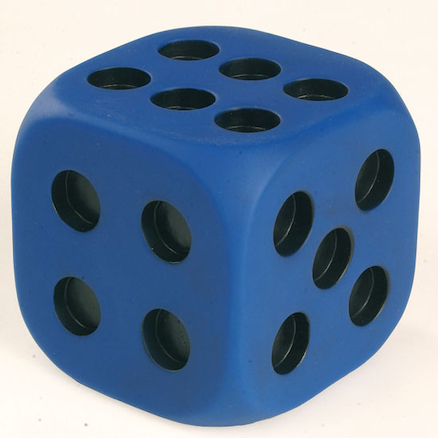 Giant Rubber Dots Dice With Indented Dots  large