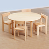 Solid Beech Circular Classroom Tables  small