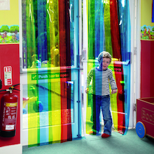 Rainbow Free Flow Curtain Strips  medium