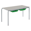 Crush Bent Rectangular Tray Table L1100mm  small