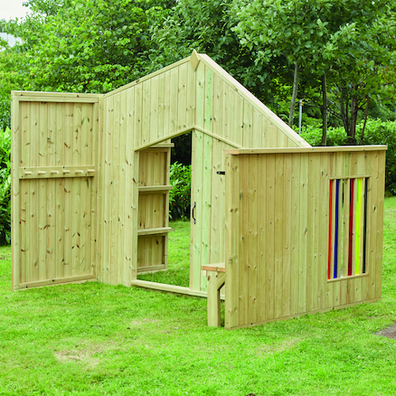 Outdoor Wooden Role Play Area  large