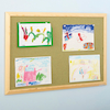 ColourTex Textile Noticeboard Wooden Frame  small