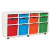 White Tray Storage Unit With 12 Variety Trays  small