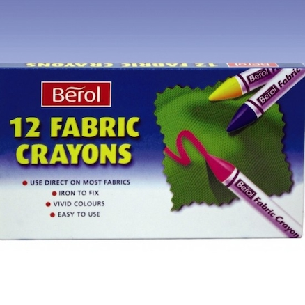 Berol Fabric Assorted Crayons 12pk  large