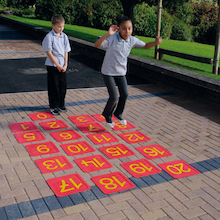 Giant Non Slip Floor Number Tiles 0-20  medium