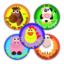EYFS Farmyard Reward Stickers 125pk  medium