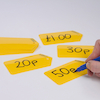 Dry Wipe Plastic Price Tags 20pcs  small