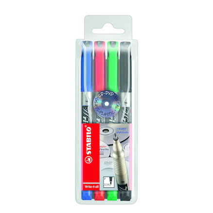 Assorted Stabilo Permanent Marker Pens 4pk  large