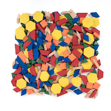 Pattern Blocks Wood  medium