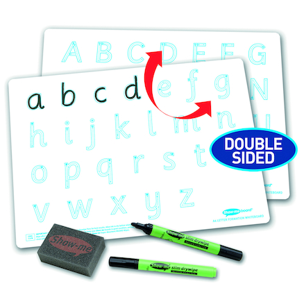 Handwriting Letter Formation Drywipe Boards 10pk  large