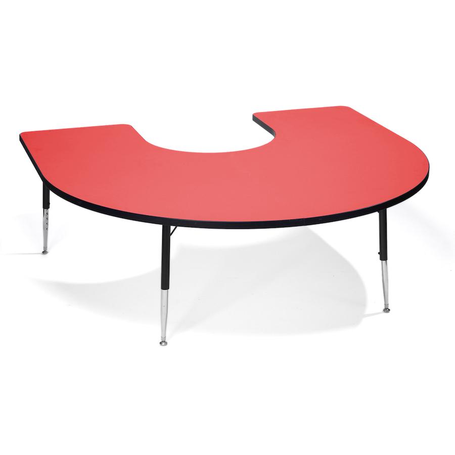 buy height adjustable horseshoe classroom table tts. Black Bedroom Furniture Sets. Home Design Ideas