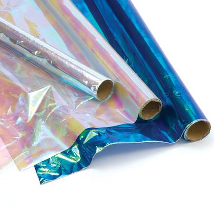 Buy Iridescent Cellophane Rolls Assorted 3pk Tts