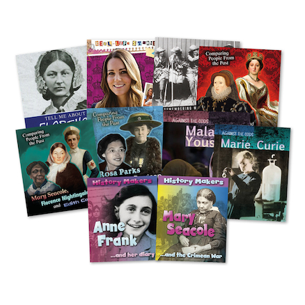 Celebrated Women in History Books 10pk  large