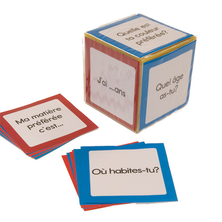 French Foam Dice Cards 48pk  large